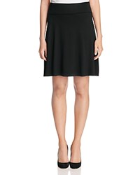 Three Dots Foldover Skirt Black