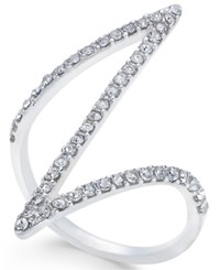 Inc International Concepts Silver Tone Pave Z Ring Only At Macy's