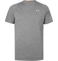 Under Armour Transport Mesh Panelled Jersey T Shirt Gray