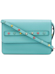 Red Valentino Stars Studded Crossbody Bag Women Calf Leather Metal Other One Size Green
