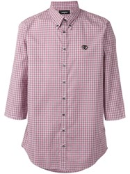 Dsquared2 Checked Shirt Men Cotton 50
