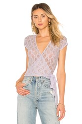 Only Hearts Club Short Sleeve Wrap Lavender