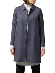 Selected Femme Patricia Coat Ombre Blue