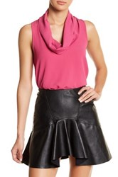 Hip Cowl Neck Swing Tank Pink