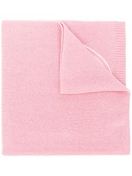 Moncler Knitted Logo Scarf Pink