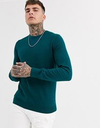 Celio Crew Neck Knit In Green