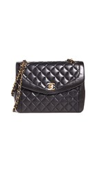 Wgaca What Goes Around Comes Around Chanel Black Lamb Shoulder Bag
