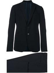 Armani Collezioni Fitted Business Suit Blue