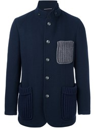 Roda Knitted Pocket Blazer Blue