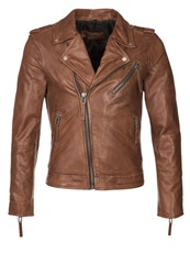 Freaky Nation Cobain Leather Jacket Cognac