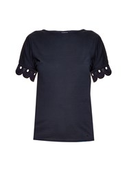 Trademark Farso Scallop Lace Trim T Shirt