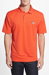 Cutter And Buck 'Denver Broncos Genre' Drytec Moisture Wicking Polo College Orange