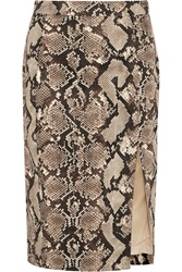 Altuzarra For Target Python Print Stretch Cotton Twill Pencil Skirt
