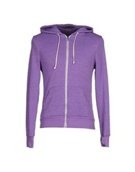 Alternative Earth Topwear Sweatshirts Men Mauve