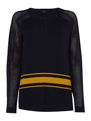 Therapy Bronte Airtex Jumper Navy