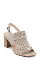 G.H. Bass Women's And Co. Reagan Kiltie Fringe Sandal Cloud Grey Leather