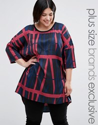 Junarose Graphic Printed Tunic Top Multi