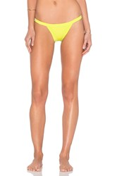 Milly Italian Solid Cheeky Bikini Bottom Green