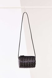 Urban Outfitters Studded Barrel Crossbody Bag Black