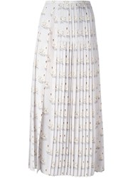 Stella Mccartney 'Domiziana' Swan Print Skirt Grey