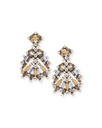 Dannijo Bavaria Crystal Statement Earrings Multi Multi Colors