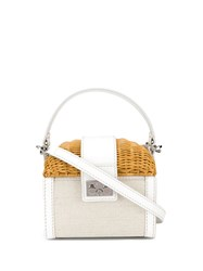Rodo Basket Tote Bag White