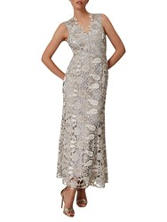 Phase Eight Collection 8 Zoey Lace Maxi Dress Smoke