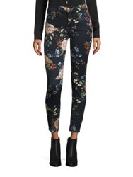 7 For All Mankind Floral Print Skinny Ankle Jeans English Botanical