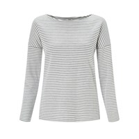 John Lewis Collection Weekend By Stripe Drop Sleeve Top Ivory Navy