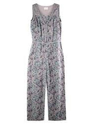 East Arya Print Jumpsuit Smoke