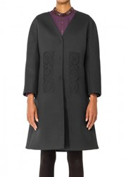 Leon Max Embroidered Cocktail Coat