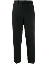Incotex Cropped Tailored Trousers Grey