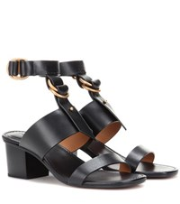 Chloe Kingsley Leather Sandals Black