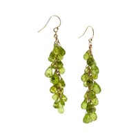 Lori Kaplan Jewelry Faceted Peridot Waterfall Earrings
