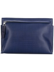 Loewe T Pouch Bag Leather Blue