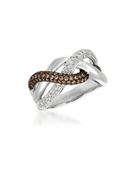 Levian 0.54 Tcw Cognac Diamonds 1.01 Tcw Vanilla Diamonds And 14K White Gold Ring