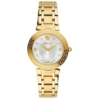 Versace V16070017 'S Daphnis Mother Of Pearl Bracelet Strap Watch Gold White