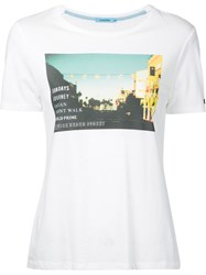 Guild Prime Graphic Print T Shirt Women Cotton Rayon 34 White