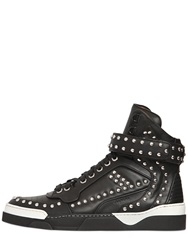 Givenchy Tyson Studded Leather High Top Sneakers Black