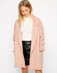 Brave Soul Double Breasted Oversized Blazer Jacket Blush