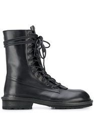 Ann Demeulemeester Double Lace Up Boots 60