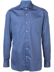 Isaia Classic Buttoned Shirt Blue