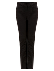 East Embroidered Detail Stretch Jeans Black