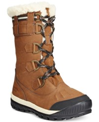 Bearpaw Desdemona Lace Up Waterproof Cold Weather Boots Women's Shoes Hickory