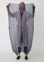Issey Miyake Pleats Please Colorful Scarf Navy