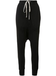 Rick Owens Lilies Drop Crotch Drawstring Leggings Black
