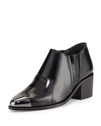Saint And Libertine Shield Cap Toe Ankle Boot Black