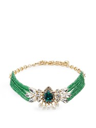 Shourouk Cascade Choker Green