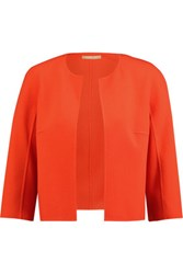 Michael Kors Collection Cropped Stretch Wool Crepe Jacket Orange