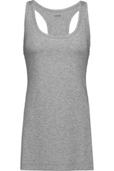 Yummie Tummie By Heather Thomson Karolina Slub Stretch Jersey Tank Anthracite